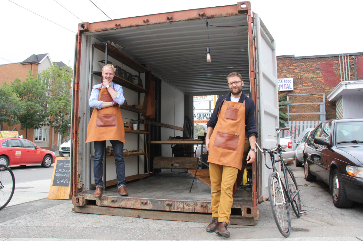 Launch your popup shop in a shipping container